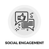 Social Engagement Line Icon Royalty Free Stock Image