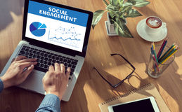 SOCIAL ENGAGEMENT Royalty Free Stock Photography
