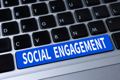SOCIAL ENGAGEMENT Royalty Free Stock Image