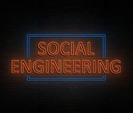 Social engineering concept. Royalty Free Stock Photo