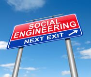Social engineering concept. Stock Images