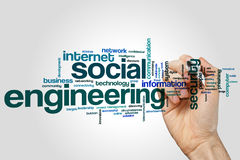 Social engineering word cloud Royalty Free Stock Photos