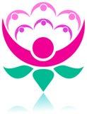 Social flower. Isolated illustrated logo design Stock Photos