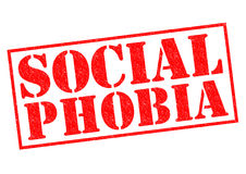 Social fobi vektor illustrationer