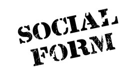Social Form rubber stamp Stock Photos