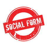 Social Form rubber stamp Stock Images