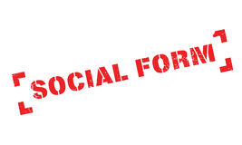 Social Form rubber stamp Royalty Free Stock Image