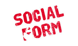 Social Form rubber stamp Stock Image
