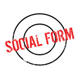 Social Form rubber stamp Stock Photography