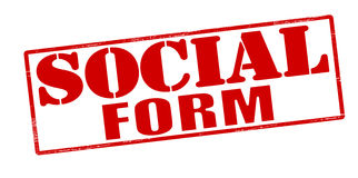 Social form Stock Image