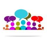 Social forum. Vector illustration Social community forum chat people Stock Image