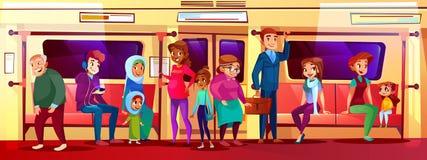 Social fråga för folk i gångtunnelvektorillustration royaltyfri illustrationer