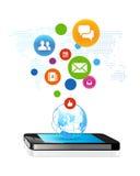 Social global affär vektor illustrationer