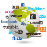 Social globe Stock Photo