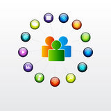 Social glossy button. EPS10. This is editable vector illustration royalty free illustration