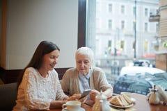 Social grannies Stock Photography