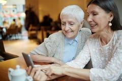 Social grannies Stock Photo