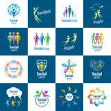Social Group logos Royalty Free Stock Photos