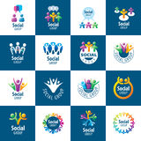 Social Group logos. Set of abstract vector logos people to social groups Stock Photo