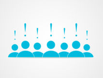 Social group. Of people with the leader stock illustration