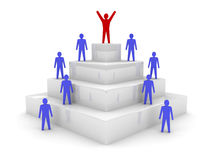 Social hierarchy. Leadership. Royalty Free Stock Photo