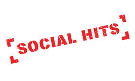 Social Hits rubber stamp Stock Photo