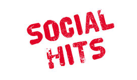 Social Hits rubber stamp. Grunge design with dust scratches. Effects can be easily removed for a clean, crisp look. Color is easily changed Royalty Free Stock Photos