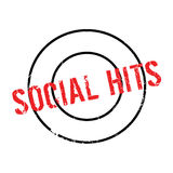 Social Hits rubber stamp. Grunge design with dust scratches. Effects can be easily removed for a clean, crisp look. Color is easily changed Royalty Free Stock Photo