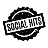Social Hits rubber stamp. Grunge design with dust scratches. Effects can be easily removed for a clean, crisp look. Color is easily changed Royalty Free Stock Images