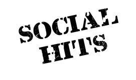 Social Hits rubber stamp. Grunge design with dust scratches. Effects can be easily removed for a clean, crisp look. Color is easily changed Royalty Free Stock Image