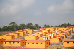 SOCIAL HOUSING. Beautiful views of social housing cost in ivory coast reduced to facilitate obtaining the houses of the people to have at least one roof Stock Image