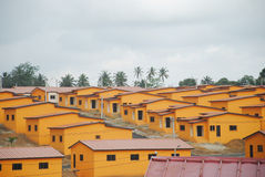 SOCIAL HOUSING. Beautiful views of social housing cost in ivory coast reduced to facilitate obtaining the houses of the people to have at least one roof Royalty Free Stock Image