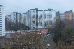 Social housing in the march district in berlin märkisches viertel, germany stock photo
