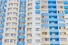 Social Housing. Multi-storey building structure building social housing neighborhood Stock Image