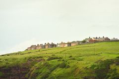 Social Housing problems, Cumbria. On the North West coast of England, this area of social housing, or an estate, as they are known in the UK, has just as many Stock Images