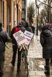 Social housing protest Stock Photos