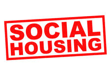 SOCIAL HOUSING. Red Rubber Stamp over a white background royalty free illustration
