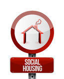 Social housing road sign illustration design Stock Photos