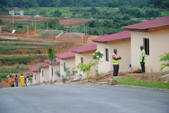 Social housing under construction Ivory Coast Stock Photography