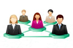 Social Human Networking Stock Images