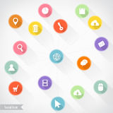 Social icon infographics, Vector illustration for  banner, diagr Royalty Free Stock Photo