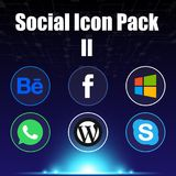 Social Icon Pack Two Blue Background Vector Image Royalty Free Stock Image