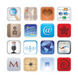 Social icon set Stock Image
