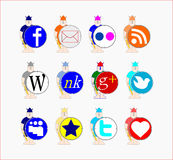 Social icons Stock Photo