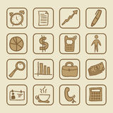 Social icons. Over cream background vector illustration Royalty Free Stock Images