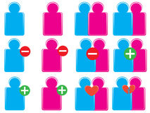 Social icons. Vectors of colorful social icons Stock Photos