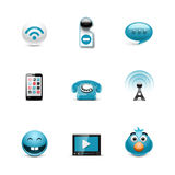 Social  icons. Azzuro series Stock Photo