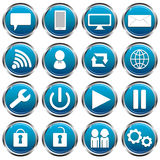 Social Icons Blue royalty free stock photography