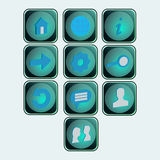 Social icons buttons Stock Image