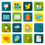 Social icons flat set Stock Photography